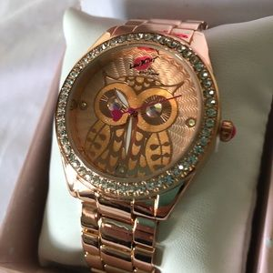 NWT Betsey Johnson Rose-Gold Tone Watch